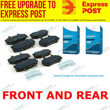 TG Front and Rear Brake Pad Set DB1510-DB1425 fits Holden Astra 2.2