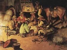 Playing Poker at Cowboy Camp by Charles Dye