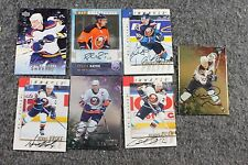 Lot of 7 Original New York Islanders Hockey Nhl Cards Signed Autograph
