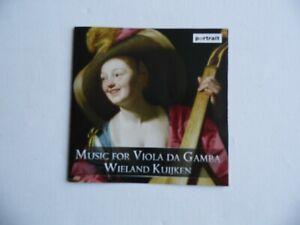 Music for Viola Da Gamba - Wieland Kuijken - CD - 25 Tracks (3).