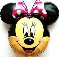 3 Pezzo XL Elio Palloncini Disney Minnie Topo Fucsia Matrimonio Compleanno Nuovo