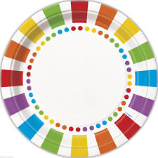 23cm Rainbow Party Plates Pack of 8