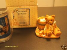 Cherished Teddies ` Joshua - Love repairs all - bear w/ wash tub 950556 1991