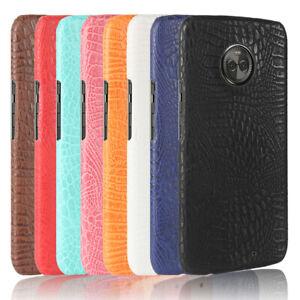NEW Crocodile PU leather hard back shell case SKIN cover For Motorola