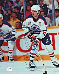 Mark Messier Edmonton Oilers Autographed 8 x 10 Hockey Photo PSA/DNA