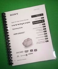 LASER PRINTED Sony HDR UX5 UX7 Video Camera 143 Page Owners Manual Guide