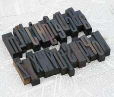 "A-Z alphabet 2.44"" letterpress wooden printing blocks wood type vintage printer"