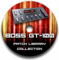BOSS GT-100 PRE-PROGRAMMED TONE PATCHES CD - OVER 5,500! GUITAR EFFECTS PEDALS