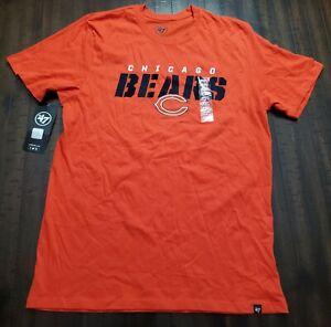 NWT 47 Brand Chicago Bears Tshirt Mens Large Orange
