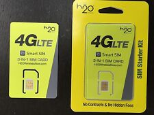 H2O Wireless 3 in 1 (Mini, micro, nano) sim for Gsm At&T Network or any iPhone