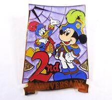 Tdl Tokyo Disney Seas 2nd Anniversary May 2003 Purple Promo Pin Mickey Donald