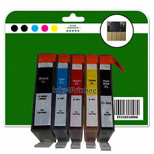 Any 5 non-OEM Chipped Ink Cartridges for HP C309 C309g C309h 364 x5 XL