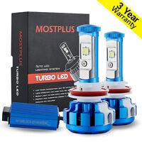 MOSTPLUS 80W Cree LED headlight H11 H8 H9 Low beam 9600LM 6000K White Bulbs Pair