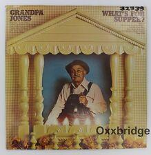 GRANDPA JONES SEALED What's For Supper 1974 COLUMBIA Country Banjo Vinyl LP