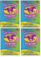 Breyer Horses Mini Whinnies Series 3 #300193 Surprise 4 Pack