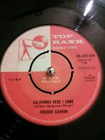 "Freddie Cannon – California Here I Come Vinyl 7"" Single UK JAR 309 1960"