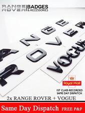 PIANO BLACK RANGE ROVER LETTERS BADGE LETTERING + VOGUE P38 REAR BONNET BOOT