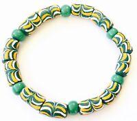 Ghana lovely multi color recycled glass handmade bracelet- African Trade Beads