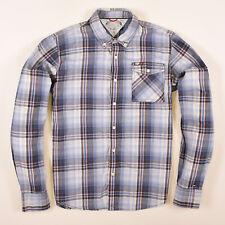 Tommy Hilfiger Herren Hemd Shirt Freizeithemd Gr.XL Karo Denim Mehrfarbig 83544