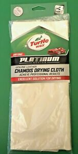 """3sq ft 5""""x16""""  Chamios Car Drying Cloth Turtle Wax Genuine leather Automotive"""