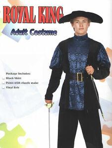 ROYAL KING RENAISSANCE ADULT ROMEO MEDIEVAL SHAKESPEARE THREE MUSKETEERS COSTUME
