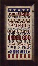 PLEDGE OF ALLEGIANCE by Lauren Rader 11x19 FRAMED PRINT Americana USA Patriotic