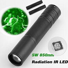 850nm LED Infrared IR Taschenlampe Zoomable Torch Nachtsicht Scope Flashlight DE