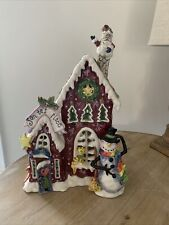 New Listingblue sky clayworks christmas Gingerbread House Ceramic