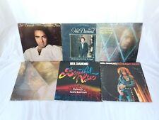 🔥 Lot of 6 Neil Diamond Classic Albums Record LP Vinyls Sept morn/ Hot Aug....