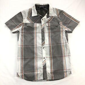 Black Diamond Equipment Mens Medium Gray Plaid Short Sleeve Technician Shirt