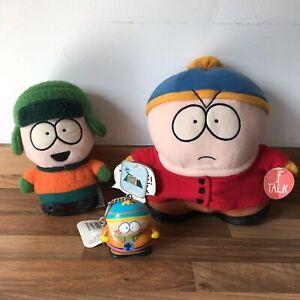 Vintage 1998 South Park Eric Cartman and Kyle Plush Toys with Cartman Keyring