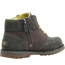 UGG Toddler Boys Orin Charcoal Leather Boots Size 6