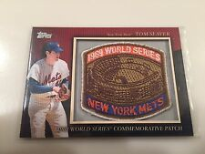 2010 Topps Tom Seaver 1969 World Series Patch New York Mets Commemorative #MCP75