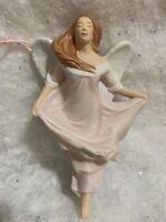2000 Hallmark Keepsake Ornament Pink ANGEL OF PROMISE Porcelain  Christmas Gift