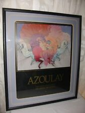 """Guillaume Azoulay Lithograph Poster Signed """"Rites"""" 1988 Matted Framed"""