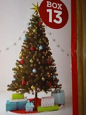 ALBERTA SPRUCE CHRISTMAS TREE 6 FT FOOT CLEAR PRE-LIT NEW BOX ARTIFICIAL HOLIDAY