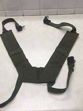 US Military Issue Vietnam Era US Army USMC H Suspenders Canvas Combat Suspenders