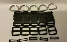 1'' -Dog collar hardware kits-10sets with 1'' (25mm) webbing CARTER PET SUPPLY