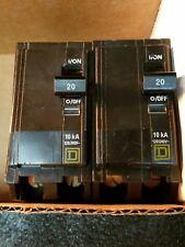 2.Square D Qo220Cp Miniature Circuit Breaker - 20 A, 2 Pole, 120/240 Vac