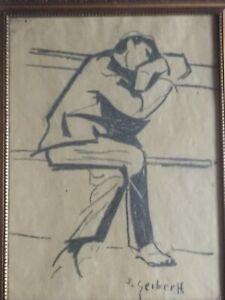 Hugo Scheiber ( 1873-1950 ) - Sitting man portrait