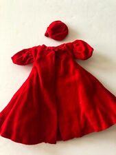 Vintage Barbie Silken Flame Red Flare Coat and Silken Flame Hat excellent cond.