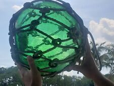 large glass fishing net float