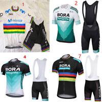 2019 Bora Movistar Ropa manga Ciclismo Maillot+Culotte Pantalones Conjunto