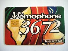 PHONECARD TELECARTE FRANCE TELECOM MEMOPHONE 36 72 BOITE VOCALE