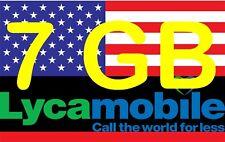 Lyca USA Reise Sim Card Amerika Prepaid 7 GB LTE  auch Hawaii und Puerto Rico
