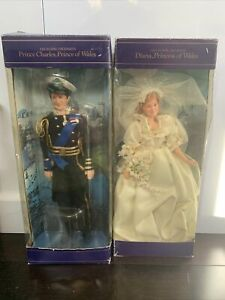 Charles & Diana, His & Her Royal Highness, Prince & Princess Of Wales Dolls