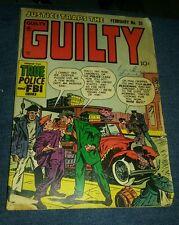 Justice Traps the Guilty 35 (G/G+) 1952 Prize Golden Age crime Meskin true crime
