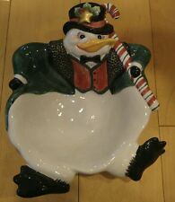 Fitz & Floyd Penguin Top Hat Snow Business Candy Serving Potpourri Display Bowl