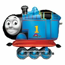 "Thomas The Tank Engine Blue Train Party Decoration 36"" Air Walker Foil Balloon"