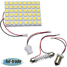 Pannello LED bianco caldo 48 x 5050 SMD Adattatore ba9s h4w t10 w5w soffitte 36 39 42 mm